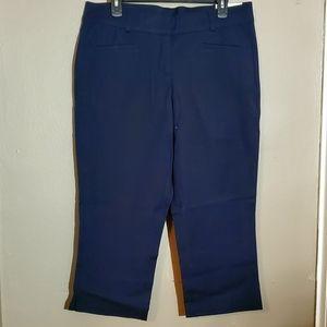 Lane Bryant - Allie Crop Pant Navy Blue - Size 12R